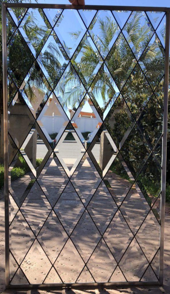 "The ""Blitz"" Traditional & Timeless Tudor Style Beveled Diamonds Leaded Glass Window"