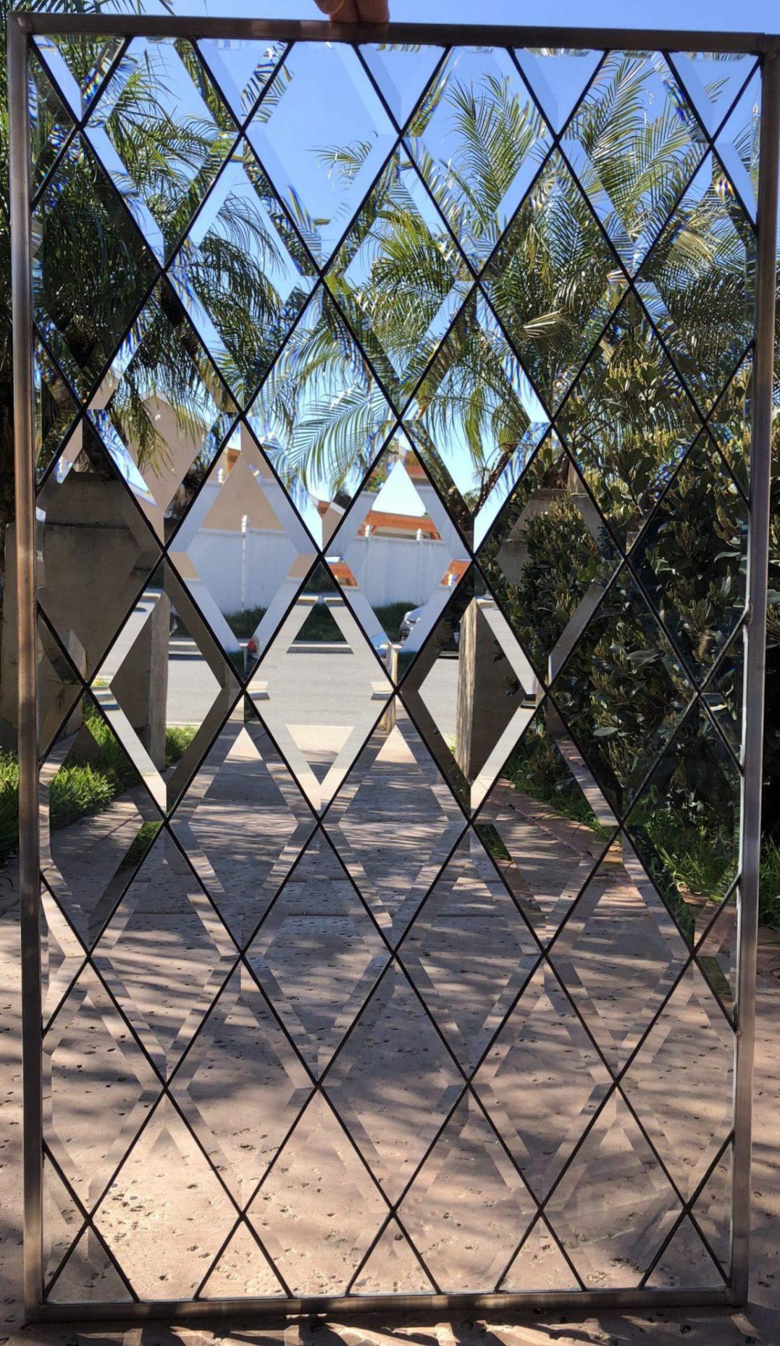 The Blitz Traditional Timeless Tudor Style Beveled Diamonds Leaded Glass Window