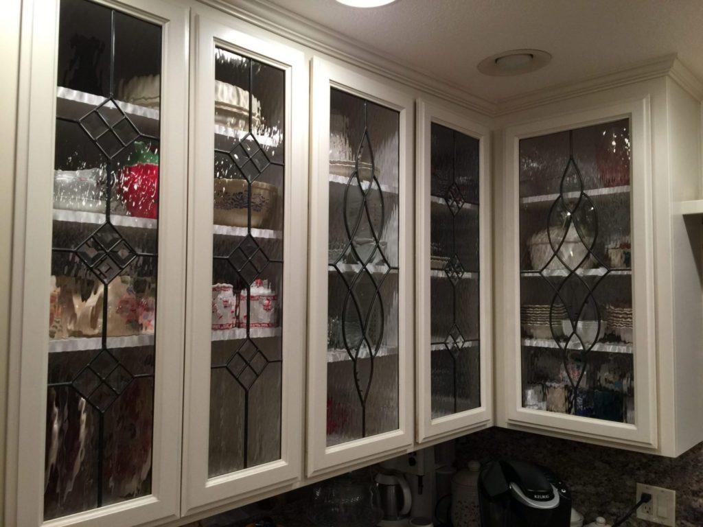 Beveled Cabinet Glass Kitchen Inserts
