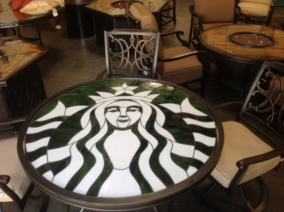 Starbucks Coffee Logo Impact Resistant Triple Paned Conversation Tabletop
