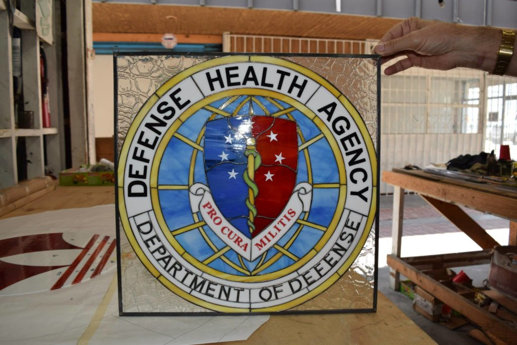Stained Glass Logos made for the Department of Defense