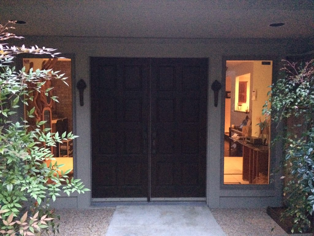 Incredible Entryway Transformation With Our Impact Resistant Stained Glass Door Inserts (Before)