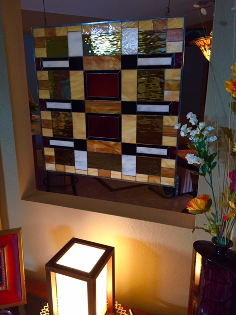 Frank Lloyd Wright Style Stained Glass