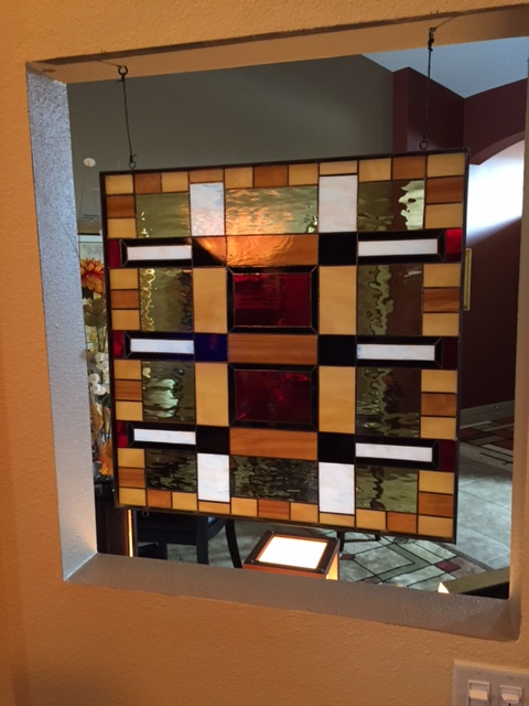 Frank Lloyd Wright Style Stained Glass Window