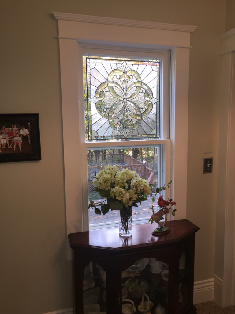 Heavily Beveled Stained & Beveled Glass Accent Window