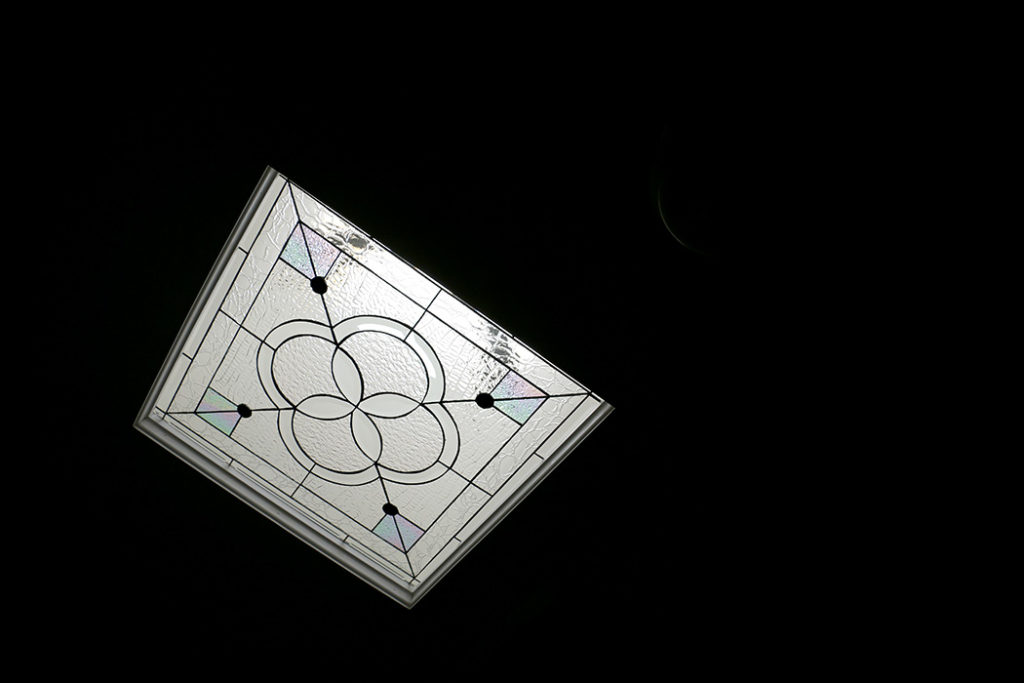 Two Beveled And Stained Glass Skylight Windows
