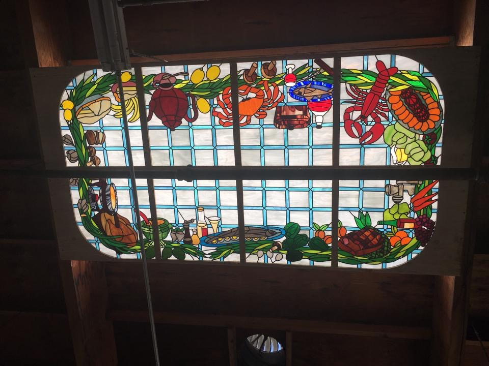 Beautiful! Back Lit Ceiling Stained Glass Panels Made For A Kitchen