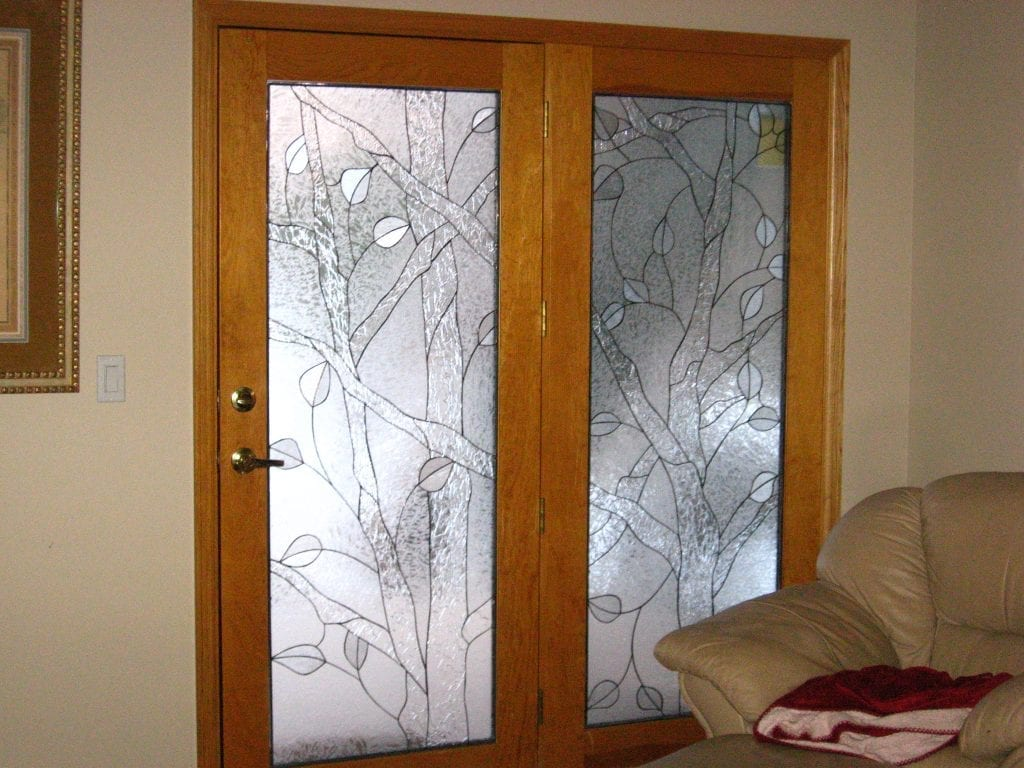 All Clear textured glass Triple Paned Door Inserts