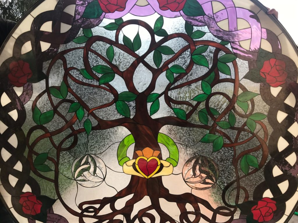 Celtic Stained Glass Window (detail)