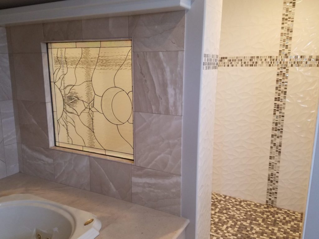 Insulated (Triple Paned) Beveled Star & Moon Partition Wall Divider