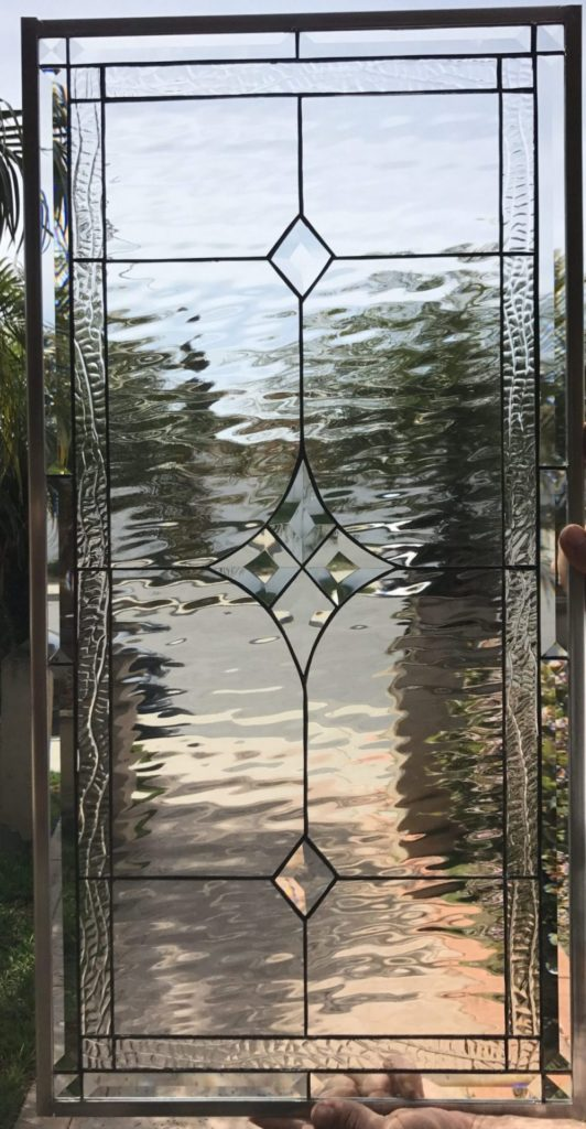 """Simple & Elegant! The """"Palm Springs"""" Stained Glass Window Panel"""