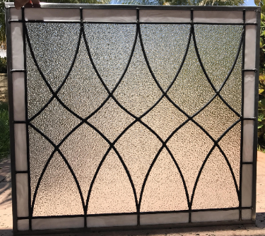 """The """"Hayward"""" Beautiful & Classic Leaded Stained Glass Window Panel Or Cabinet Insert"""