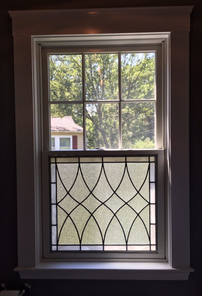 Clear Textured Leaded Glass Window