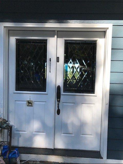Two Beveled Diamond Impact Resistant Triple Paned Door Inserts