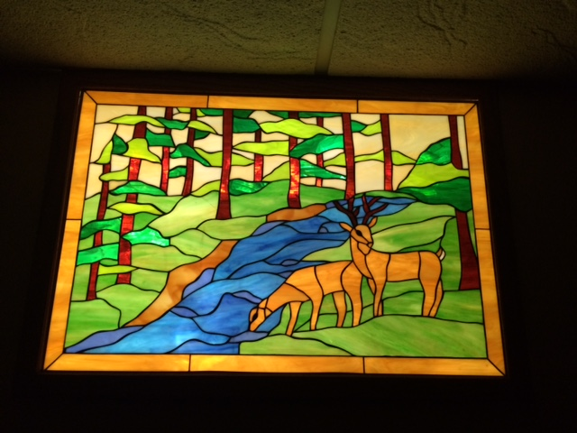 Nature Panels! Deer Stained Glass Windows