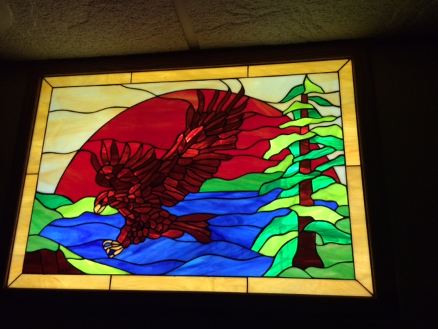 Nature Panels! Eagle Stained Glass Windows