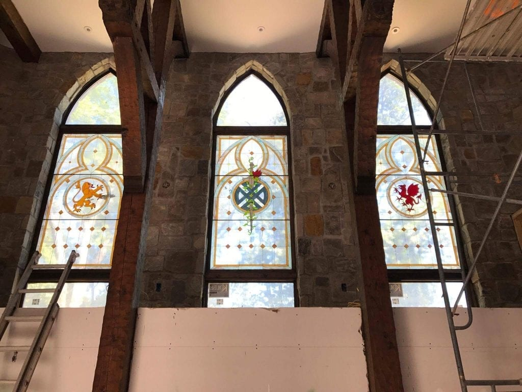 Medieval Stained Glass Windows Installed into A Castle in Tennessee