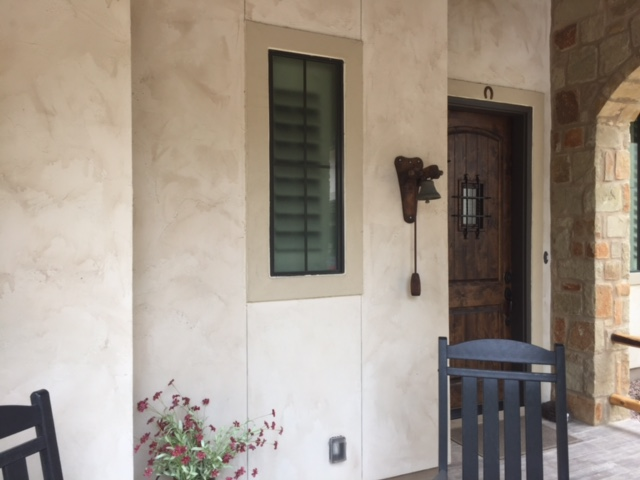 Stained Glass Window Next To An Entry Door Adds Elegance And Curb Appeal (Before)