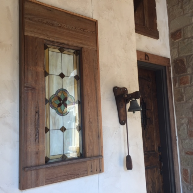 Stained Glass Window Next To An Entry Door Adds Elegance And Curb Appeal (After)