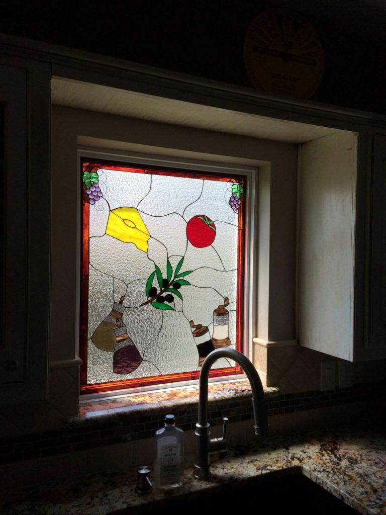 Beautiful Stained Glass Kitchen Window Insert