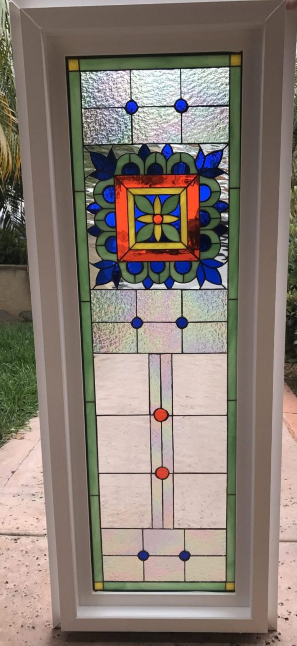 """Vinyl Framed and Insulated!! The """"Talavera"""" Stained Glass Window"""