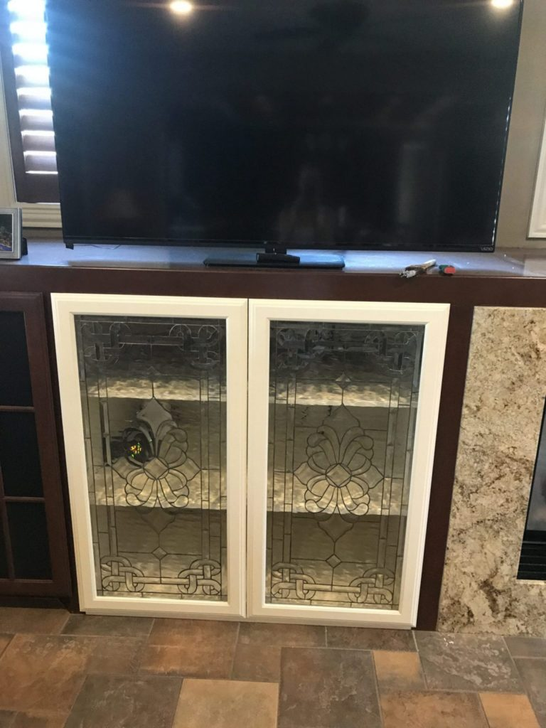 All Clear Textured And Beveled Glass Cabinet Inserts