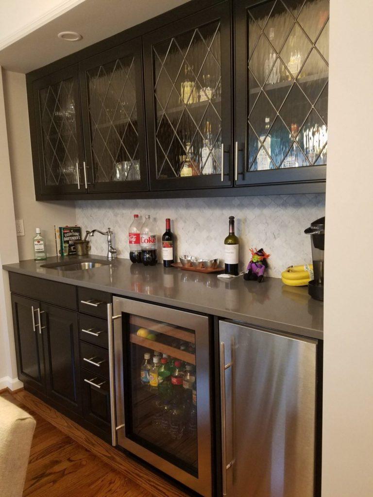 So pretty! Classic Diamond Tudor Style Kitchen Cabinet Inserts