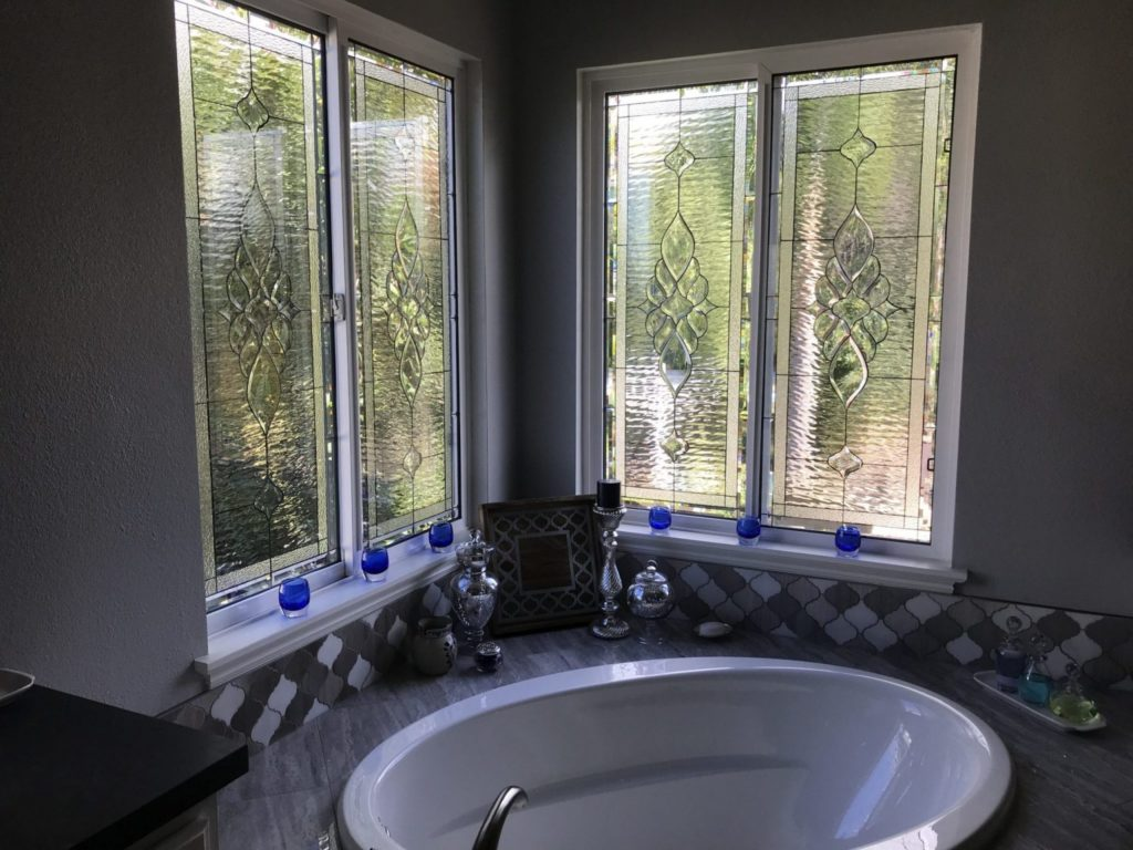 Incredible triple glazed all clear waterglass and beveled windows