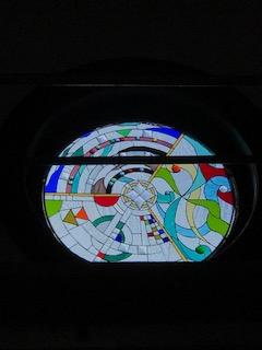 "Round ""Infinity"" Stained Glass window"