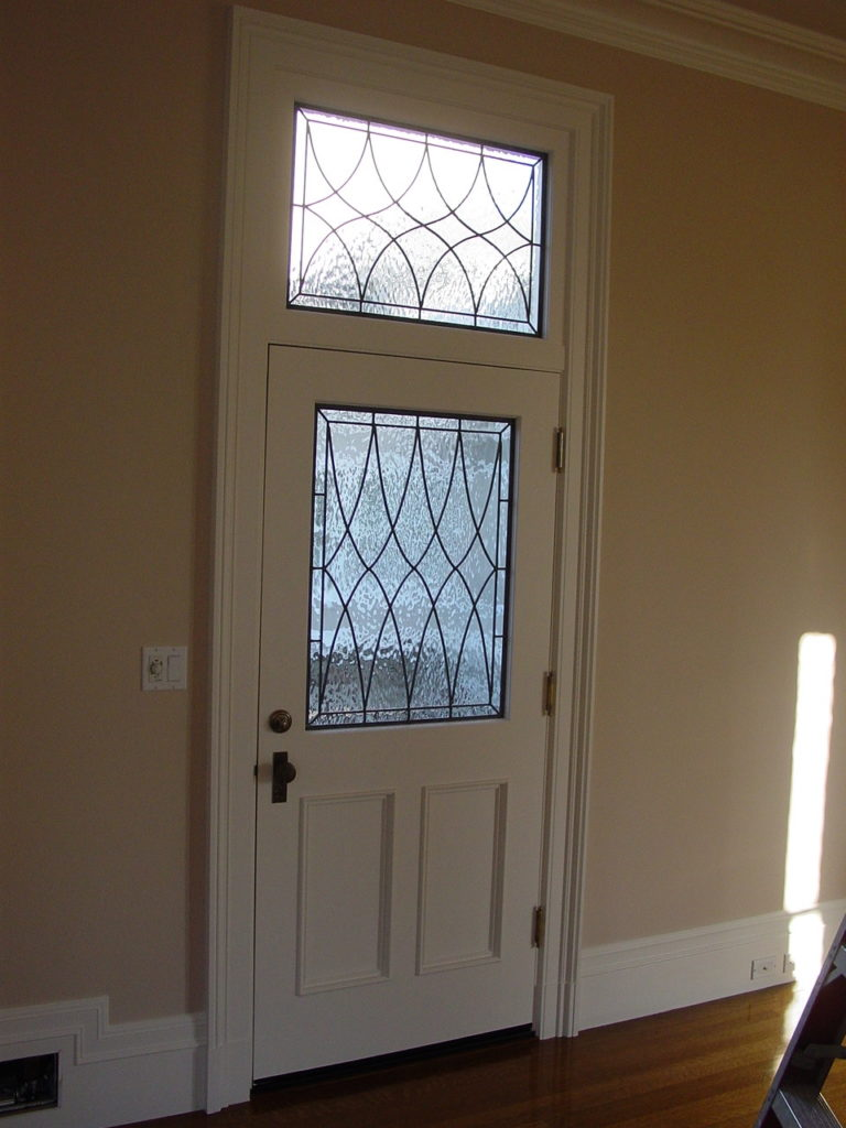 Matching Door and Transom Classic Leaded Glass Windows