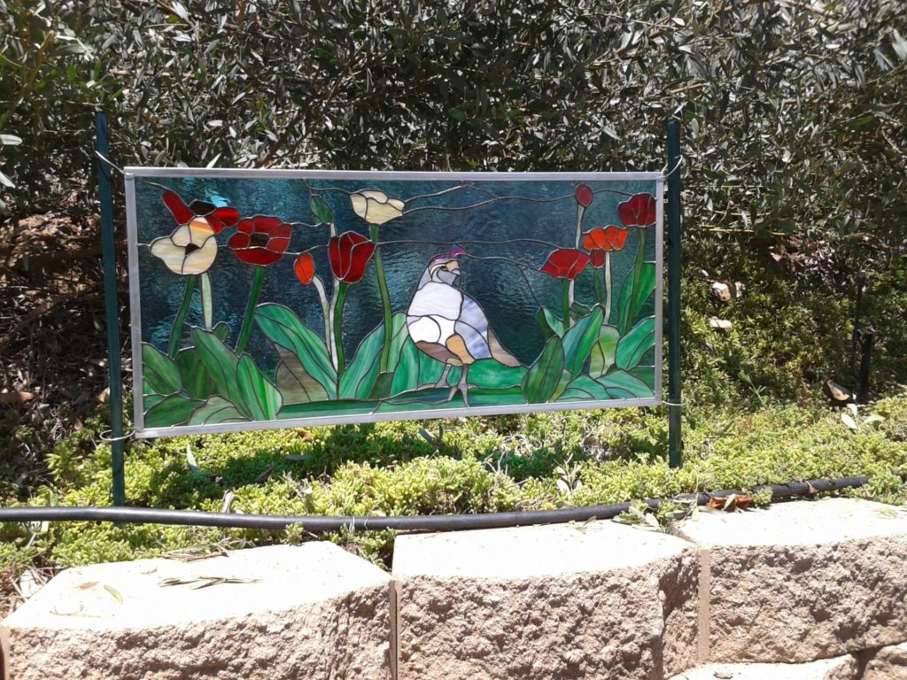 Stained Glass Windows Put Into A Garden