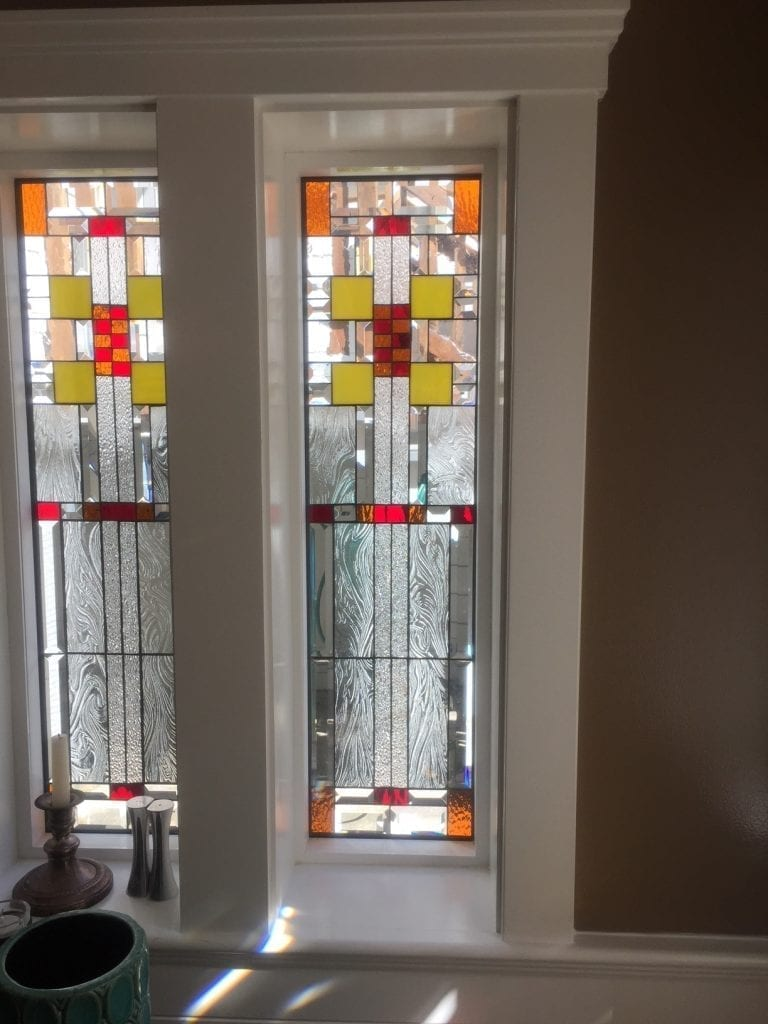 beautiful craftsman style windows which provide privacy, beauty and natural light