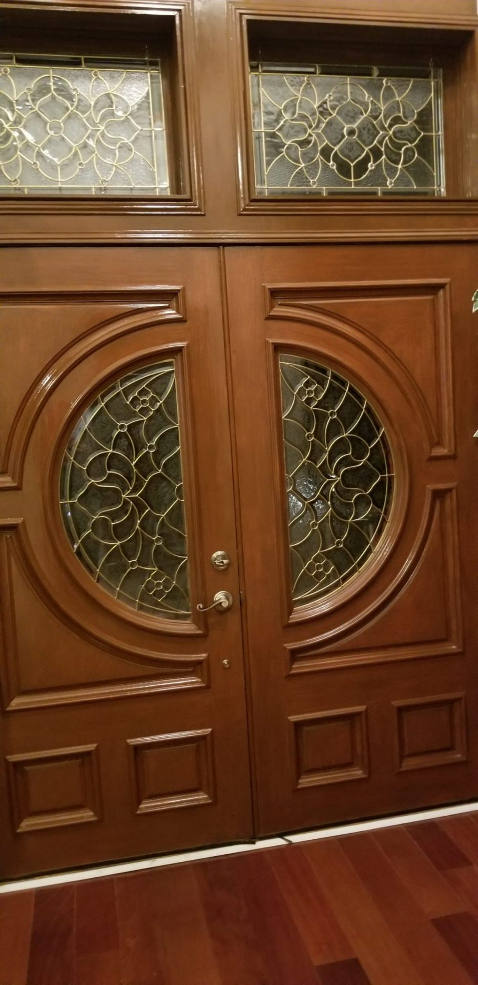 Bdg Style Idaho Project Kitchen: Victorian Style Brass Came Beveled Windows Made For A Entryway