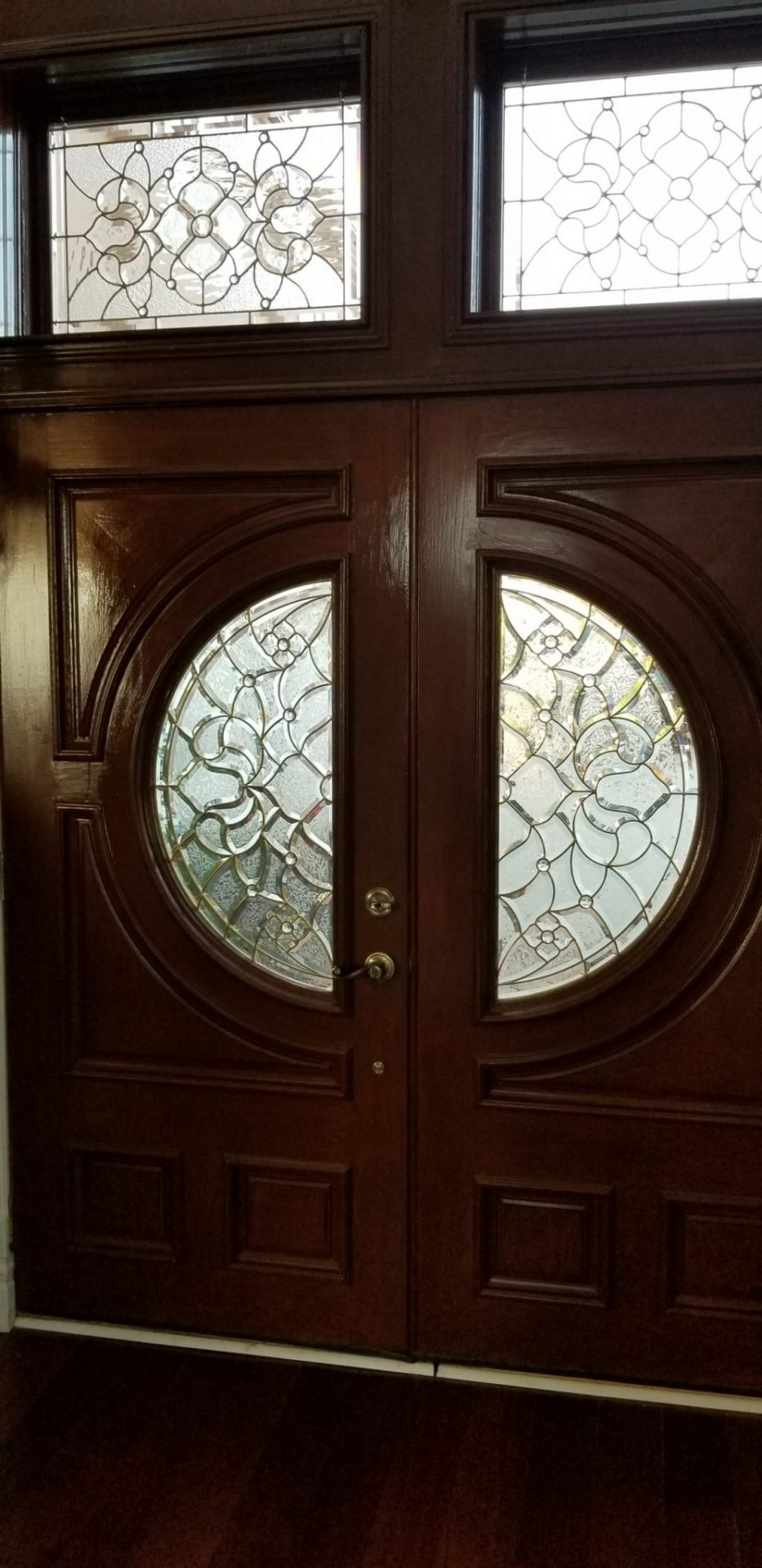 Bdg Style Idaho Project Kitchen: Victorian Style Brass Came Beveled Windows Made For A Clients Entryway