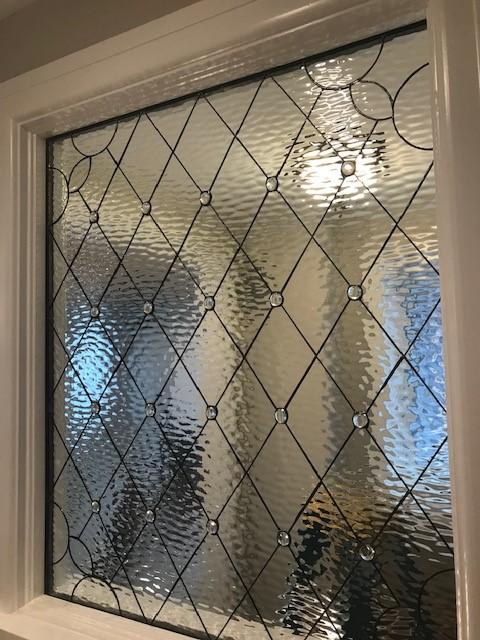 All diamond leaded glass panel