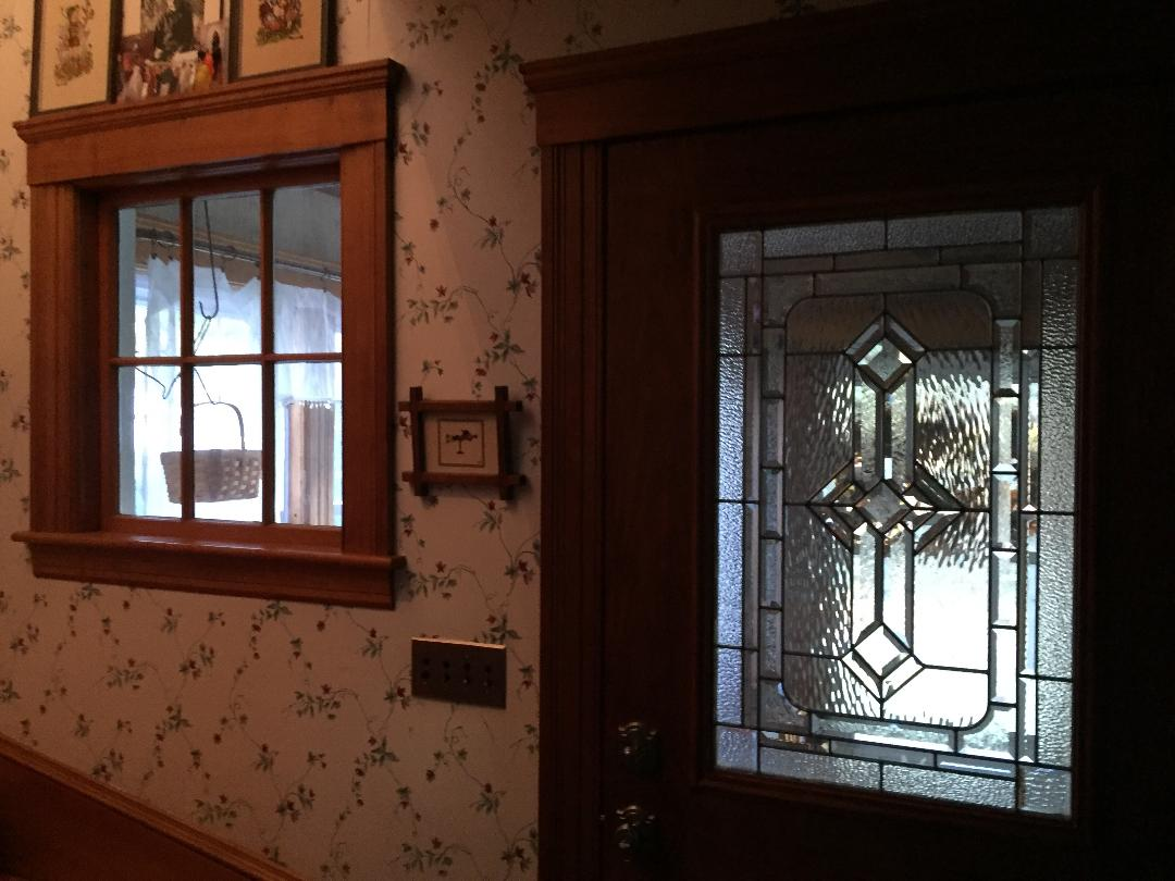 Wood Sash Framed Victorian Partition Window Installed BEFORE