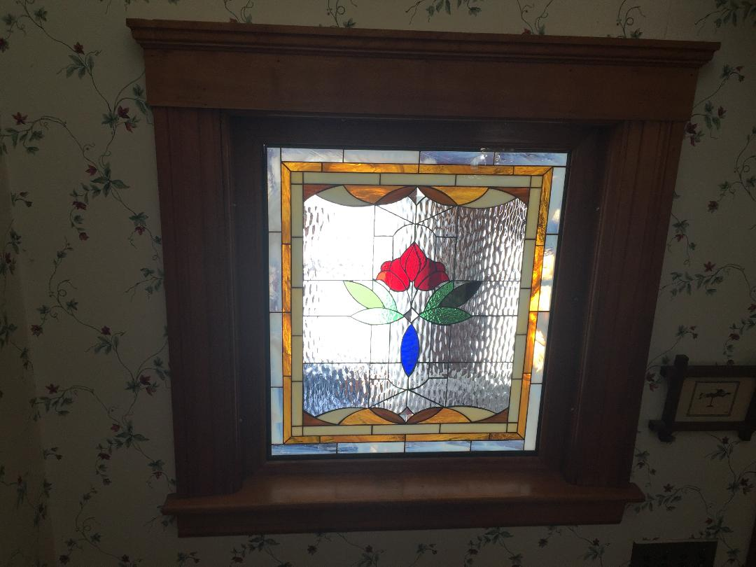 Lovely Wood Sash Framed Victorian Partition Window Installed