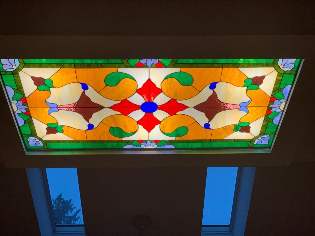 Ceiling Stained Glass Panel