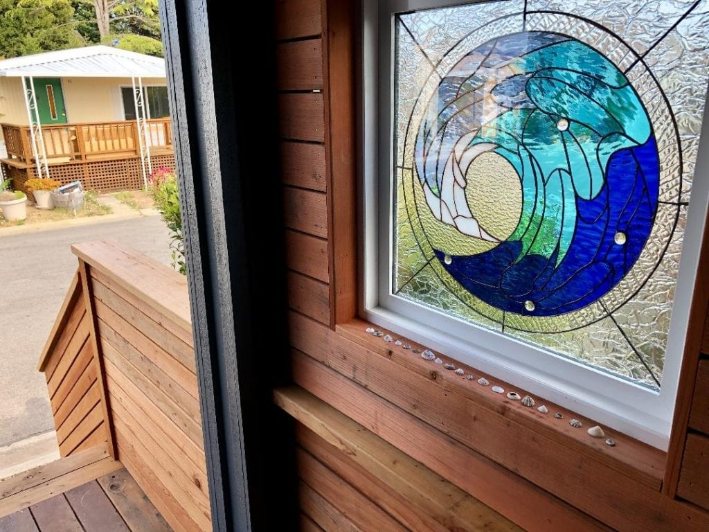 Framed & Insulated Beautiful Cresting Wave Installed in Porch Of An Entryway