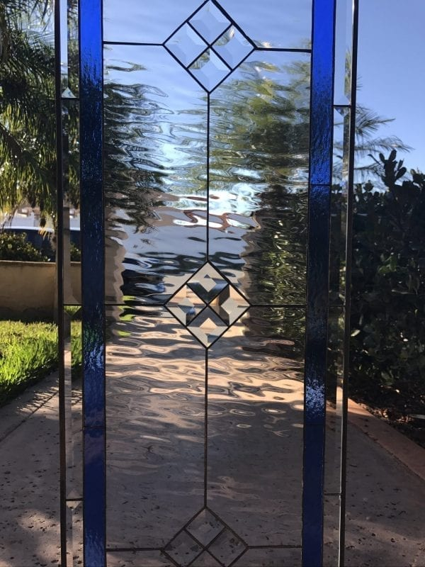 "The ""La Mirada"" Classic Leaded Stained Glass Window Panel"