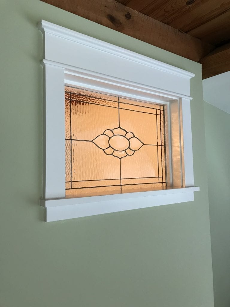 All Clear Beveled Window Installed On The Interior Of Home
