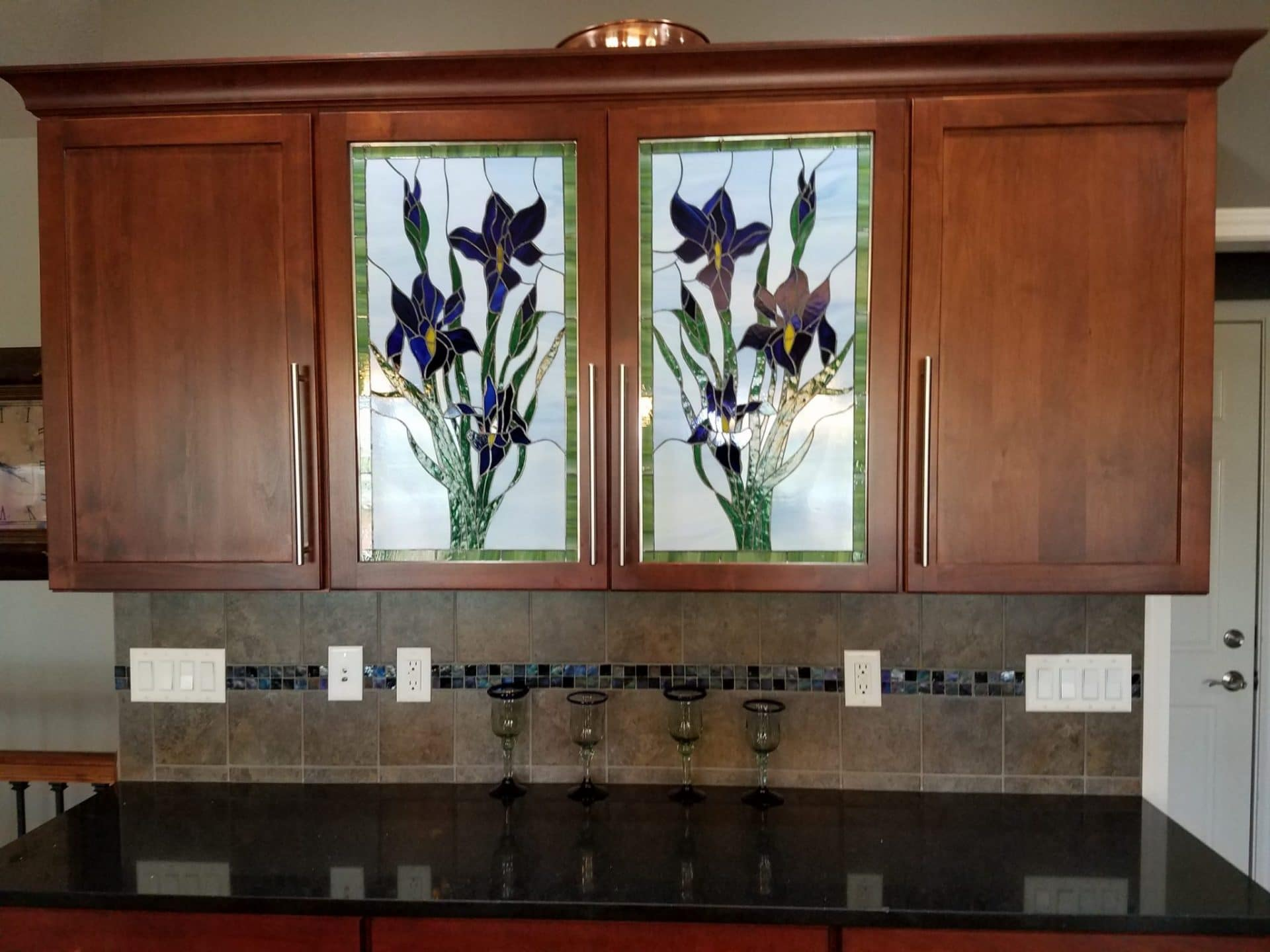 Stained Gl For Kitchen Cabinets