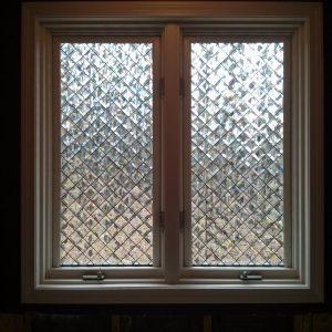 Elegant! Tilted Beveled Squares Tempered Insulated Vinyl Window