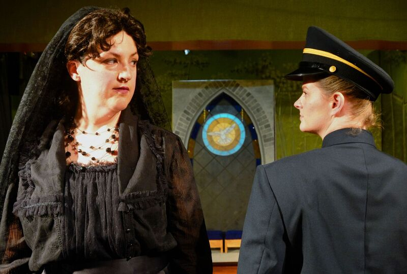 So Much Drama!! Our Dove Stained Glass Panel Used Center Stage At A Play in Chicago