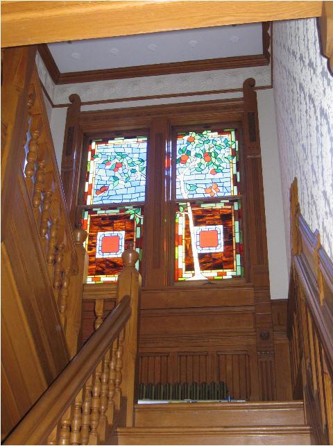 Season Tree Stained Glass Stairwell Windows