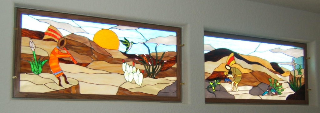 Sunset Southwestern Stained Glass