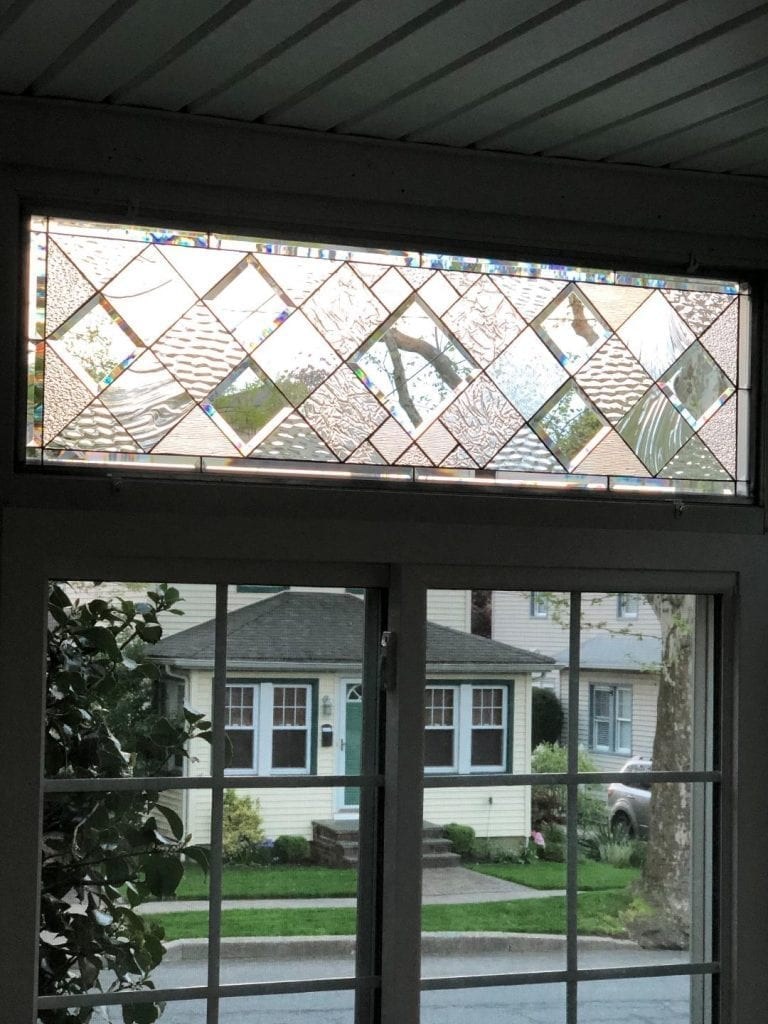 Five Beveled Leaded Glass Windows Installed into A Enclosed Porch In New York (Before & After)