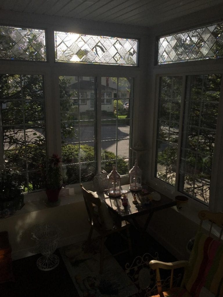 Beveled Leaded Glass Windows Installed into A Enclosed Porch In New York (Before & After)