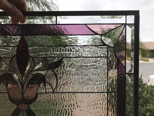 """The """"Westchester"""" Victorian Leaded Stained Glass Window Panel"""