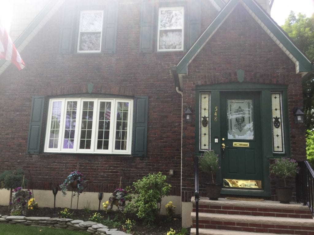 Two Pineapple Stained Glass Sidelites for instant Curb Appeal